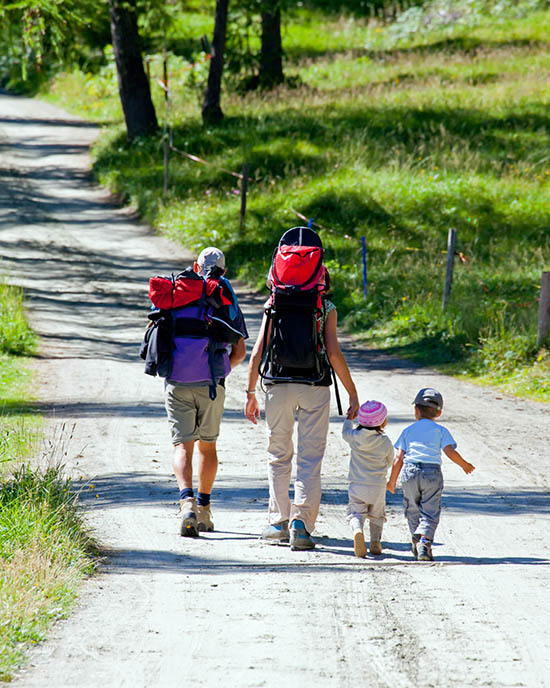 walk my land with my family